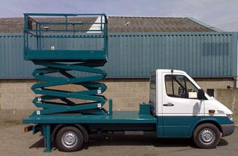 vehicle mounted scissor lift