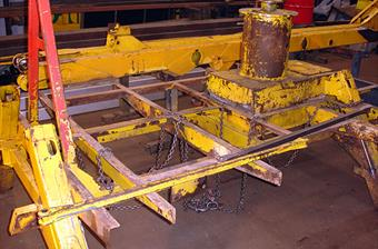 Powered Access Sub Frame Before Refurbishment